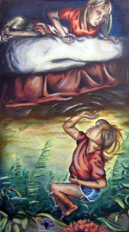 Below the Surface, 2010, 5' x 3', oil on panel - $300