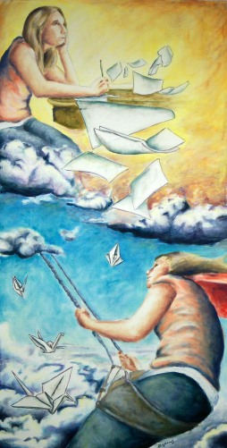 Daydreaming the Day Away, 2009, 3' x 2', oil on panel - sold